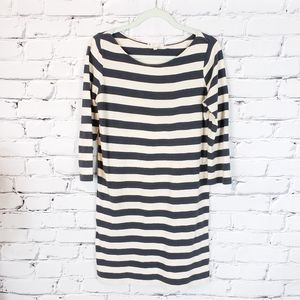 Soft Joie Gray and Cream Striped Dress